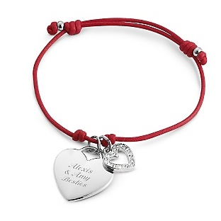 Red Friendship Bracelet at Things Remembered -- gift for a little!! <3