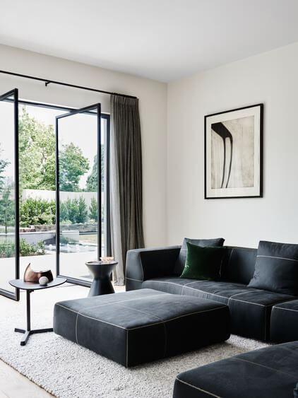 Ushering In The 21st Century With Opulent Restraint. Modern Living RoomsBlack  Sofa Living Room DecorBlack ...