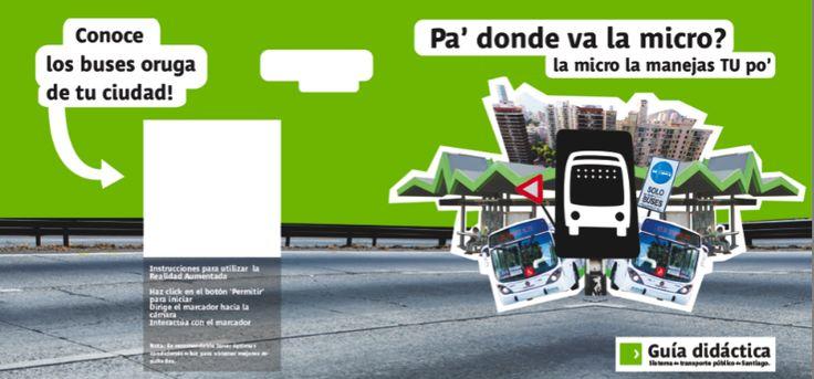 pieza grafica guia didáctica sistema publico de transporte