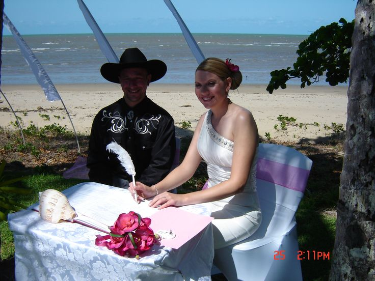 Ricky and Karen - all the way from England - Machans Beach private residence. www.rhapsodyceremonies.com.au