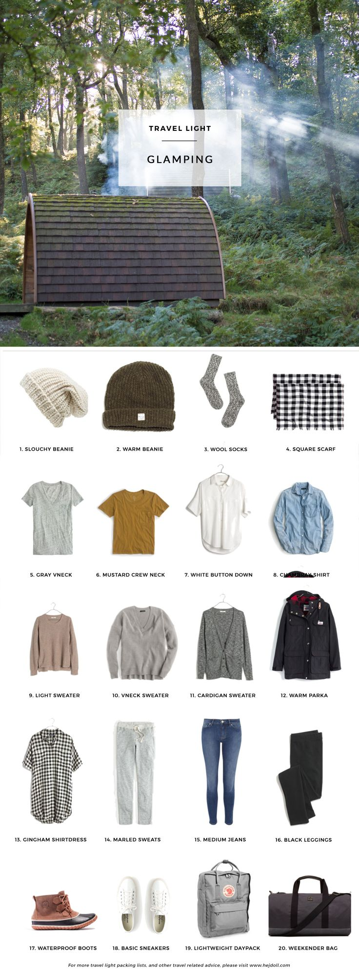 Pack for a Glamping Trip | hej doll | Bloglovin'