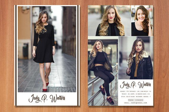 Modeling Comp Card Template Fashion Model Comp Card Ms Etsy Model Comp Card Model Fashion Models