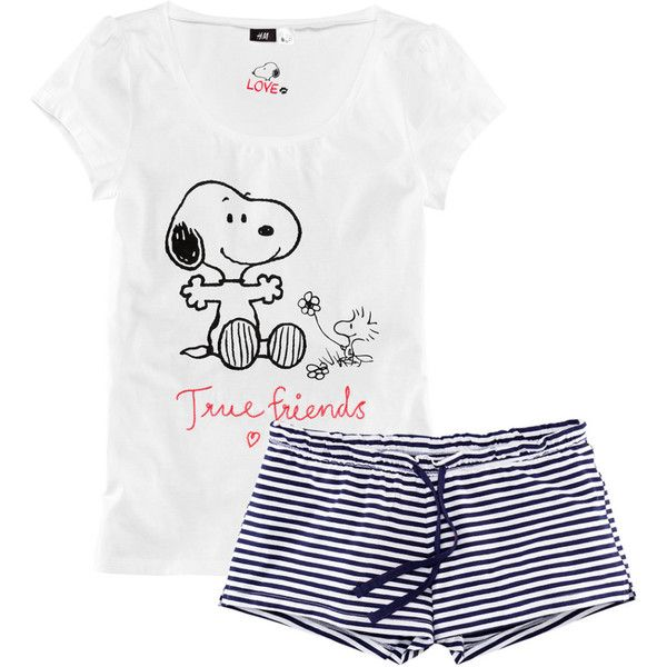 H&M Pyjamas (217.955 IDR) ❤ liked on Polyvore featuring intimates, sleepwear, pajamas, pijama, pyjamas, sleep, dark blue, h&m pyjamas and short sleeve pajamas