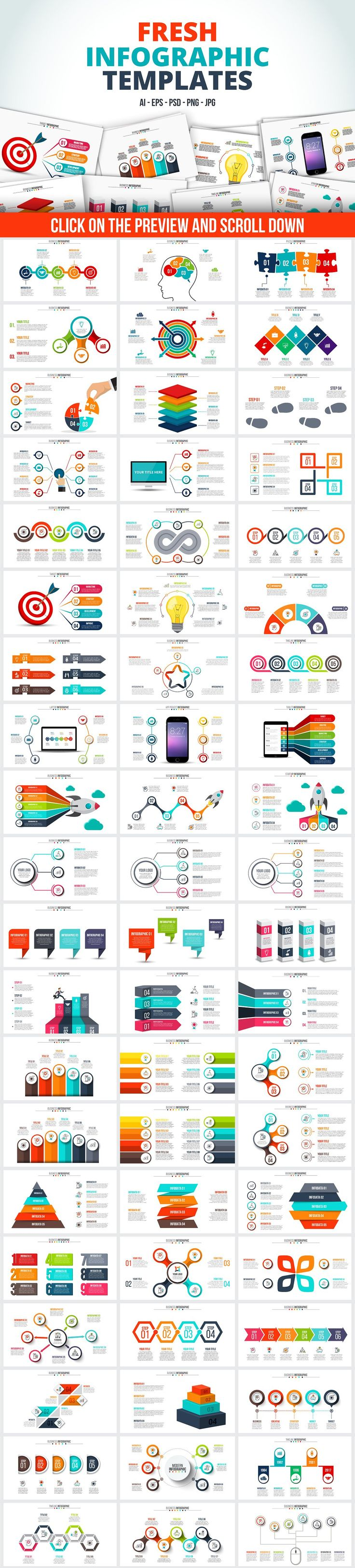 Infographic templates bundle by Abert on @creativemarket