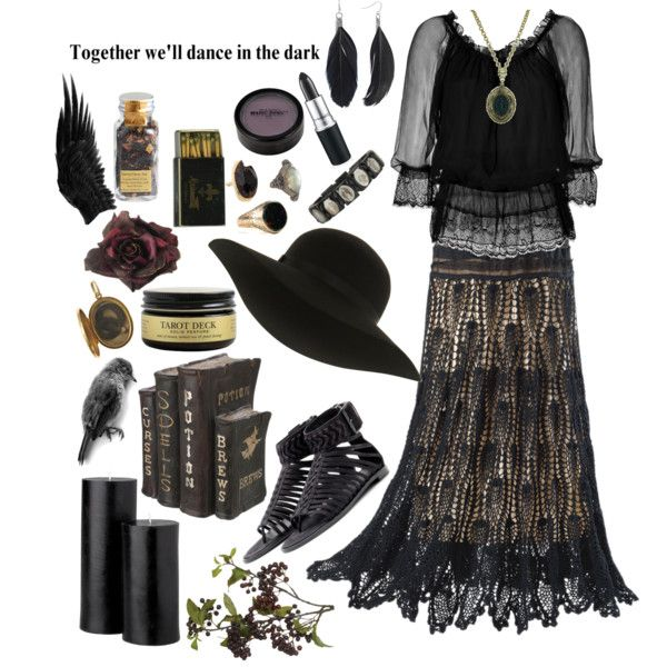 """""""Black Magick Woman"""" by morbid-octobur on Polyvore   Sometimes i wanna be the spooky witch lady who lives in the woods, alright?"""
