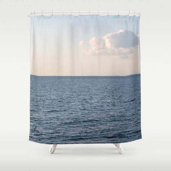 Blue Shower Curtain White Cloud Shower Curtain White And Blue