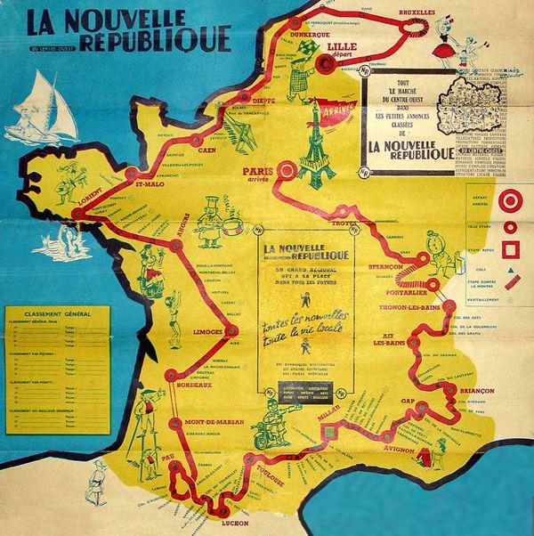 1960 Tour de France map