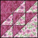 North Wind 3 patch. Complicated looking, but actually consists of just squares and half-square triangles.