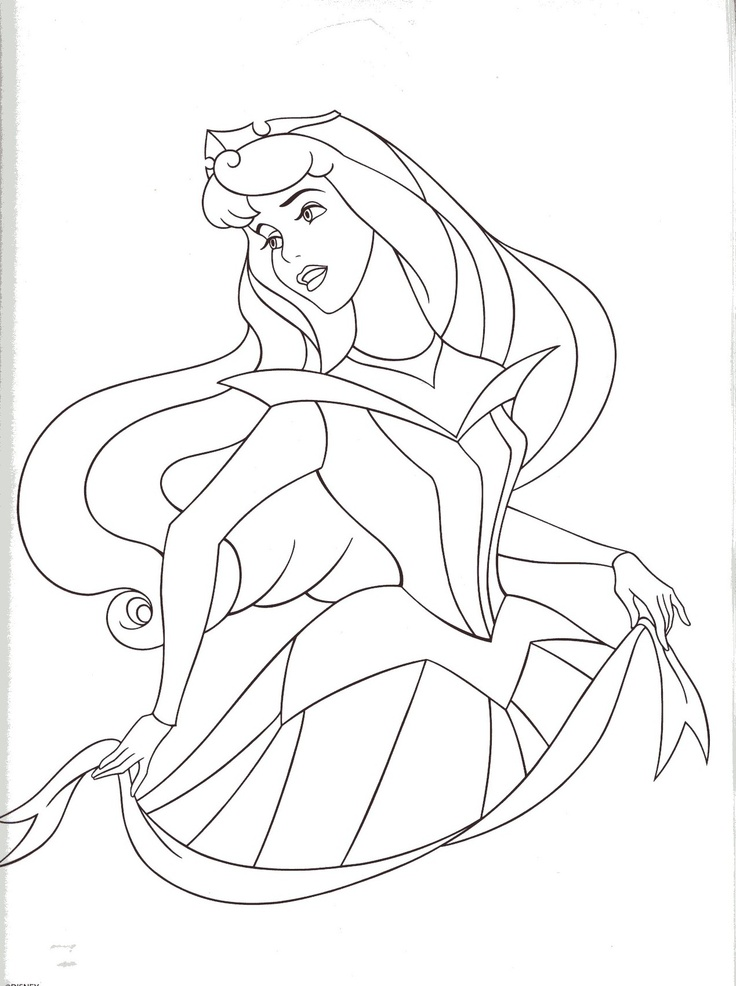 Aurora Disney Coloring Pages Pinterest
