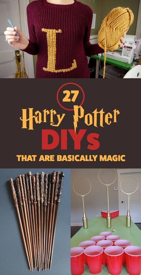 Harry Potter DIYs for birthday party parties - copycat treacle tart recipe - free tutorial for handmade S.P.E.W. buttons - shortcut hack for Weasley letter sweater - quidditch game rules - free printable marauder's map - how to make your own wands - firebolt costume craft broom - butterbeer recipe from Universal Studios