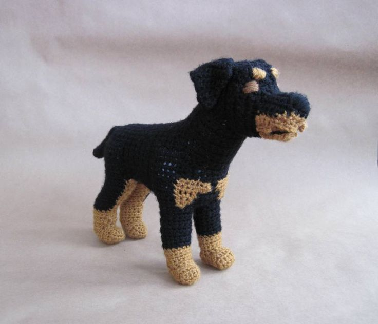 Crocheted Rottweiler PDF Pattern. My vet would love this