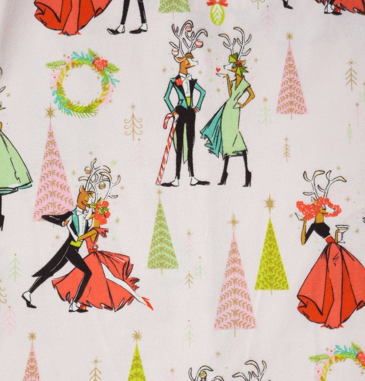Can you imagine the holidays in any other pajama? Reindeer Games Flannel Pajamas from The Cat's Pajamas.