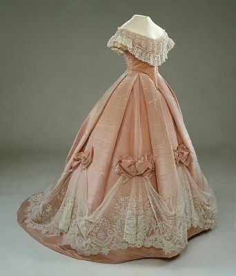 gown, circa 1850s
