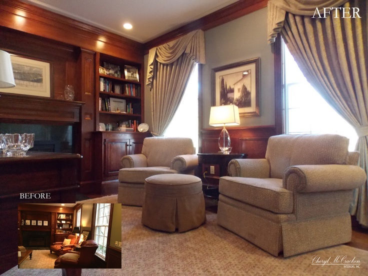 After Home Office Drape Fabric Is Fabricut But Purchased From The Ailanthus Showroom Chair