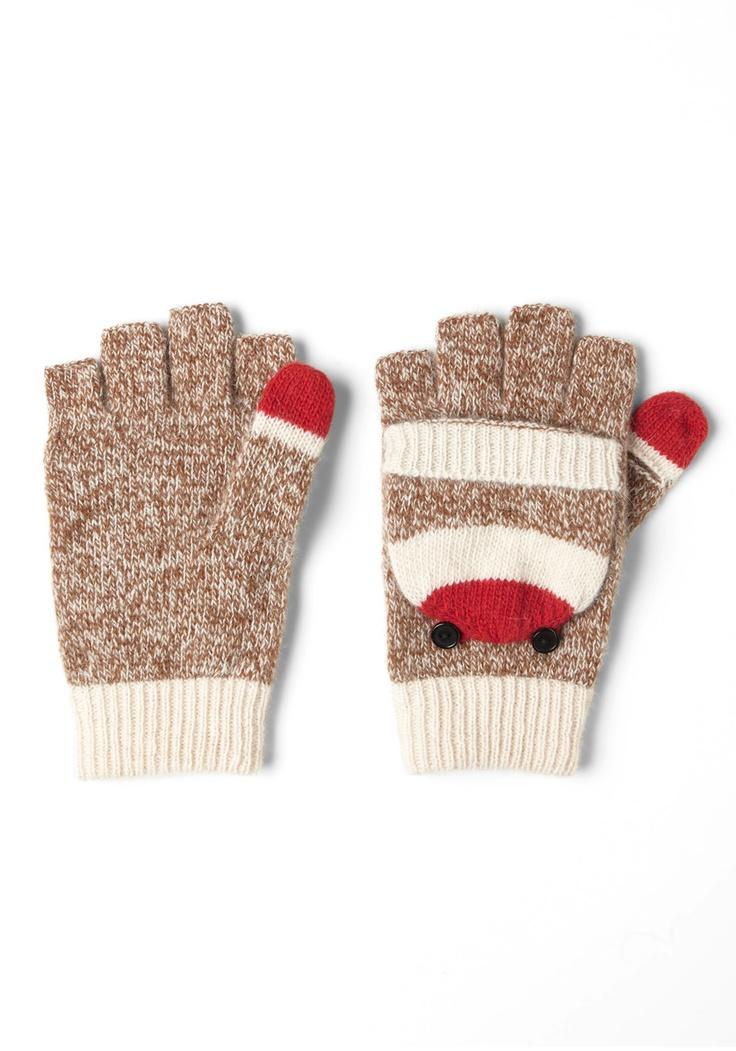 Sock Monkey gloves? High-five!