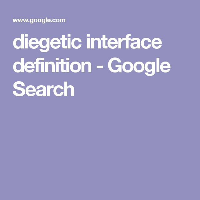 diegetic interface definition - Google Search