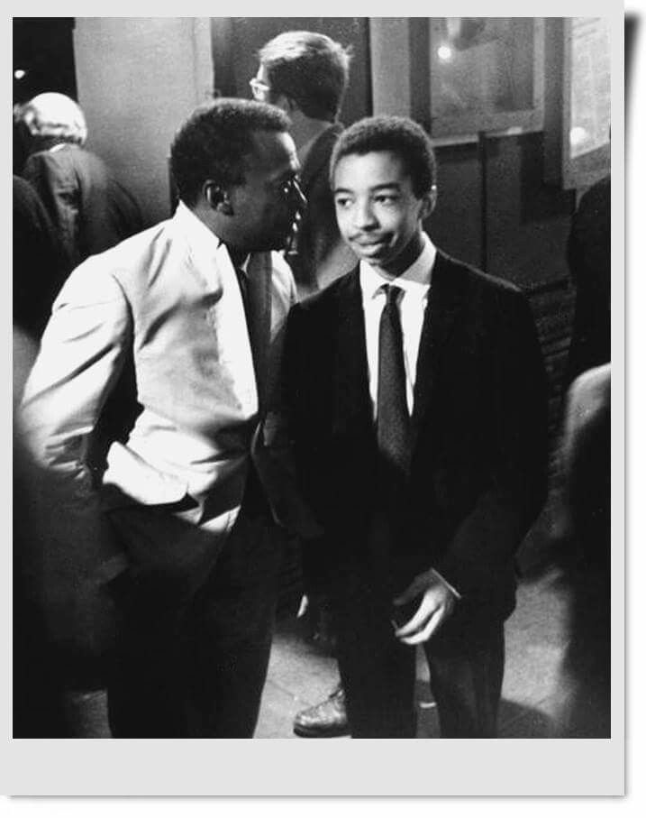 Trumpeter Miles Davis and Drummer Tony Williams