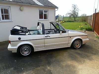 Vw Golf Gti Mk1 Cabriolet. Pearlescent White Paint, Lowered, Ronal Turbo Wheels  - http://www.vwgticarsforsale.com/vw-golf-gti-mk1-cabriolet-pearlescent-white-paint-lowered-ronal-turbo-wheels/