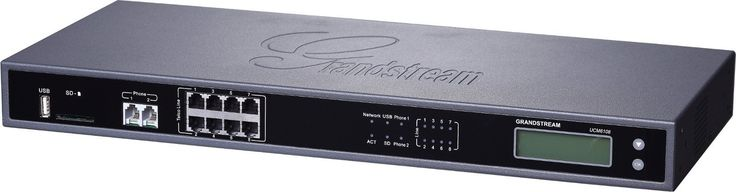 Grandstream UCM6108 - Eight (8) Port IP PBX Appliance with 60 Concurrent Calls. PSTN Line FXO Ports - Eight (8). Analog Telephone FXS Ports - Two (2), both with lifeline capability. Concurrent Calls - Up to 60. Conference Bridges - Up to 6, with 32 simultaneous PSTN or IP participants. Network Interfaces - Dual 10M/100M/1000M RJ45 Ethernet ports with integrated PoE Plus (IEEE 802.3at-2009).