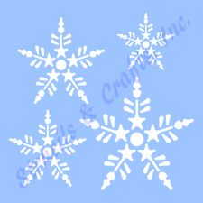 SNOWFLAKES STENCIL 4 SIZES CHRISTMAS SNOWFLAKE STENCILS TEMPLATE CRAFT #9 NEW in Crafts, Home Arts & Crafts, Decorative & Tole Painting, Stencils | eBay