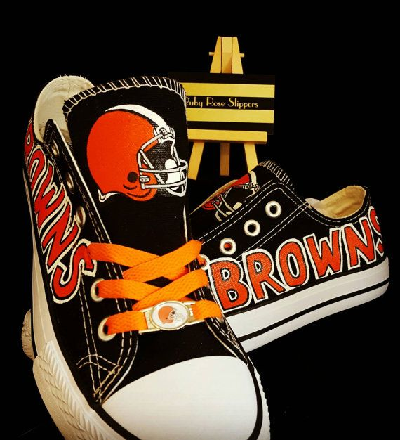 Hey, I found this really awesome Etsy listing at https://www.etsy.com/listing/449519462/cleveland-browns-fan-art-shoes
