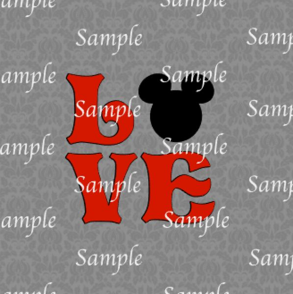 Download Mickey Love SVG, DXF, EPS, PNG Digital File   Mickey love ...