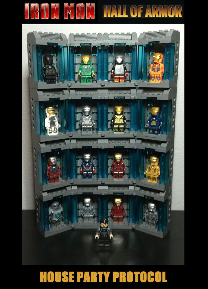 NEW! LEGO Custom Iron Man HALL OF ARMOR 17 Minifigures Midas Hot Rod & More #LEGO