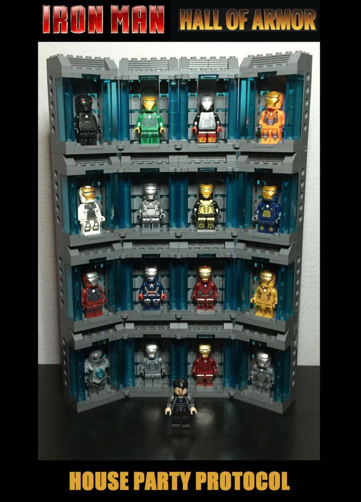 NEW! LEGO Custom Iron Man HALL OF ARMOR 17 Minifigures Midas Hot Rod & More #LEGO