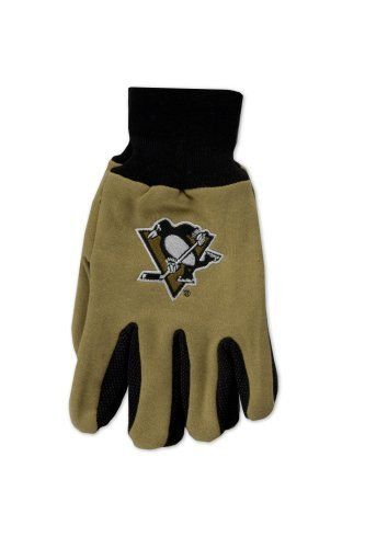 NHL Pittsburgh Penguins Two-Tone Gloves by WinCraft. $5.20. Comfort and Style come together with McArthur's Original Sport Uitlity Gloves.  Constructed of heavy weight Cotton, these Two-Tone Gloves come with a Rubber Dot Palm offering a Sure Grip.