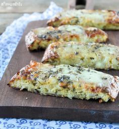 Crujiente de coliflor con queso
