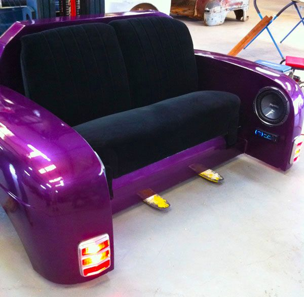 Purple Couch, Cinema room? Need spare parts ? save up to 85% at www.breakeryard.co.uk
