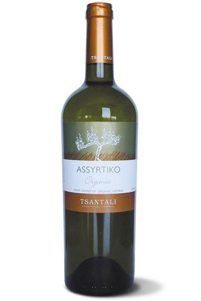 Organic White Wine Assyrtiko produced by Tsantalis Winery in organically grown vineyards in Halkidiki North Greece.  http://agoragreekdelicacies.co.uk/online-shop/4570272291/Organic-Selection