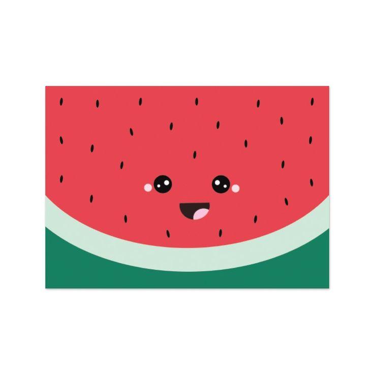 """Kaart """"watermeloen gezichtje"""" - Live Life Happy"""