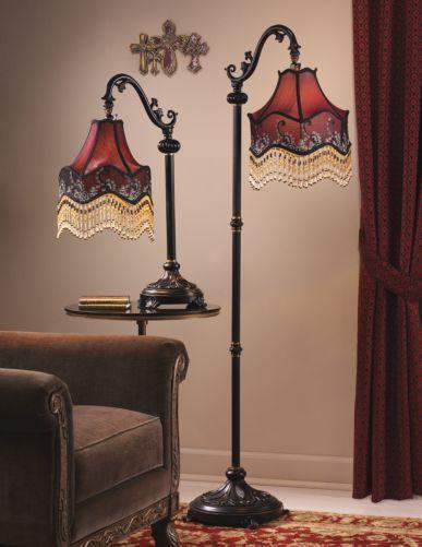 Burgundy Floor Lamp From Midnight Velvet 174 From The Parlor