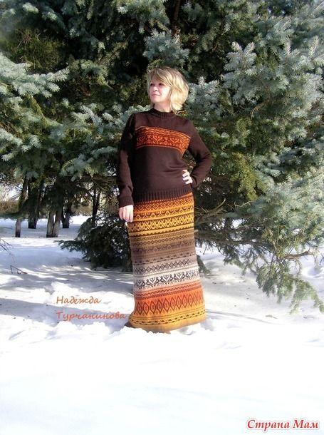 Здравствуйте!!! Я к Вам с очередной перуанкой.. продолжаю тему http://www.stranamam.ru/  Юбка с пряжи кауни 8 цвет грей-оранж, ушло 500грм для орнамента брала ПШ в 5 сложений..