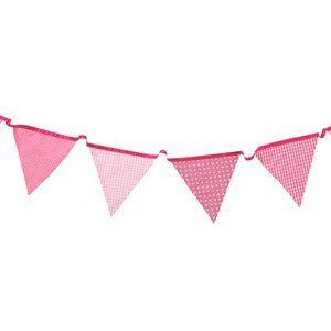 Pink Fabric Bunting (3m): Amazon.co.uk: Kitchen & Home