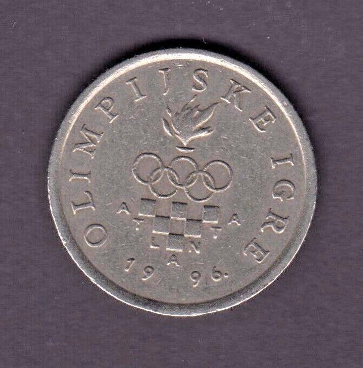 CROATIA  1 Kuna 1996  Olympic Games in Atlanta ~ USA