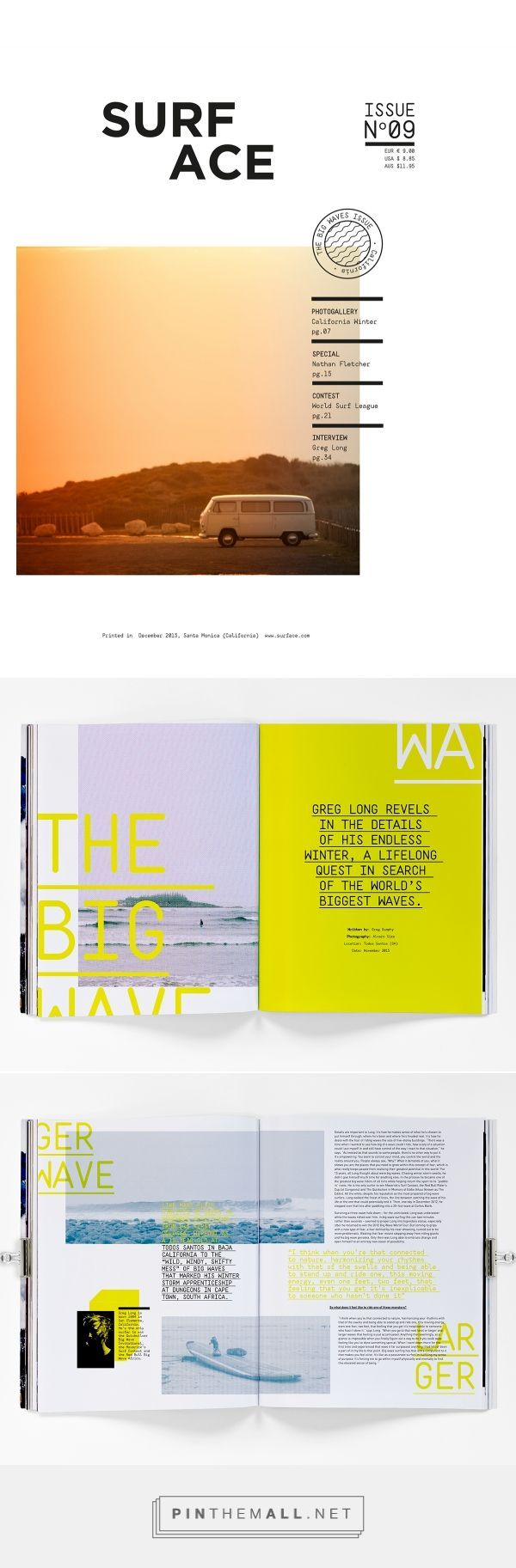 surf magazine covertwo spreads on behance