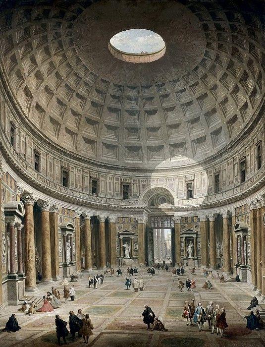 Интерьер римского Пантеона 1747, 127х98, Музей искусств Кливленд