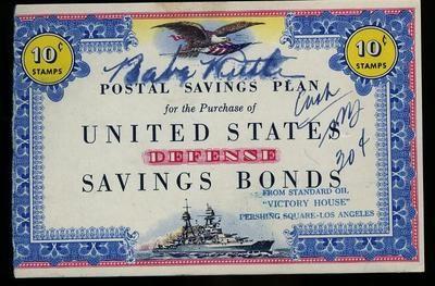 Autographed Baseballs-Babe Ruth Signed Ww2 Defense Bond Psa/dna Autograph   Babe Ruth Signed Ww2 Defense Bond Psa/dna Autograph BABE RUTH SIGNED WW2 DEFENSE BOND PSA/DNA AUTOGRAPH