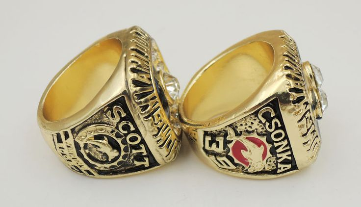 (2 PCs) 1972 1973 Miami Dolphins World Championship Ring Great Gift For Men !!