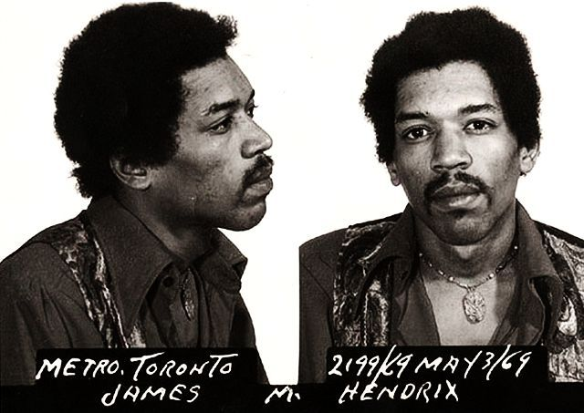 Jimmy Hendrix Mug Shot 1969