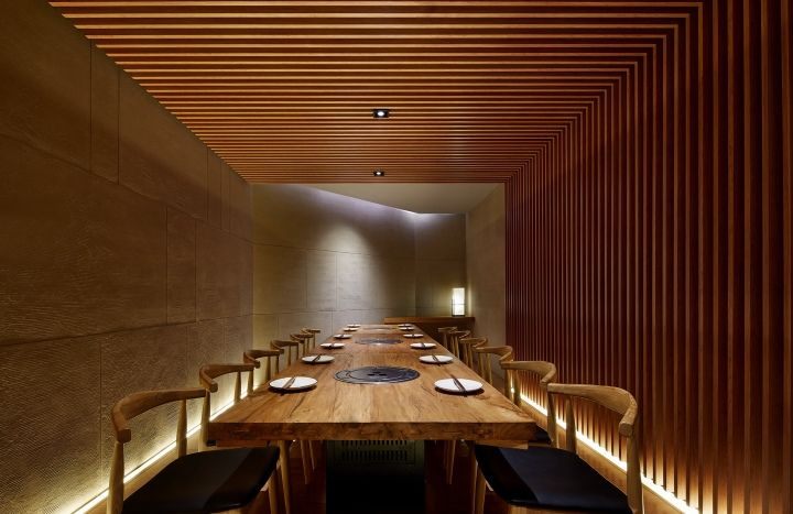 Tsuruichi Yakiniku resturant by Golucci International Design, Beijing - China