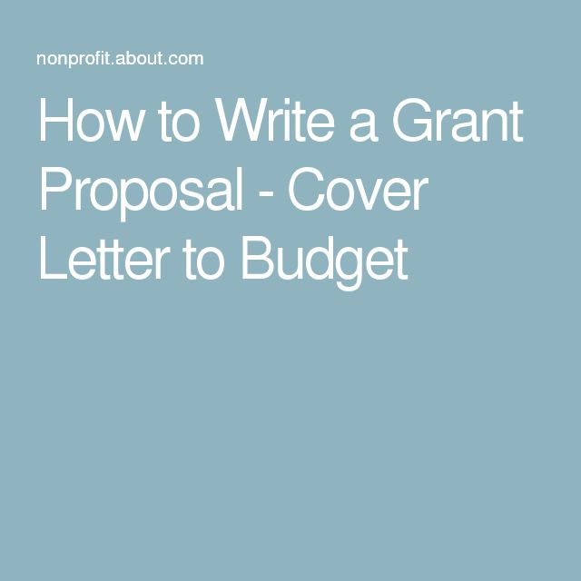 how to write a grant proposal cover letter to budget - Grant Proposal Cover Letter
