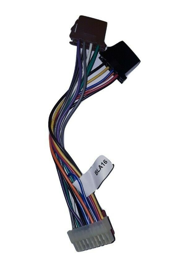 pac bla16 16 pin plug for blaupunkt head unit wire harness (new Amp Bypass Harness