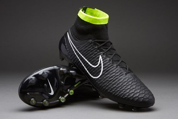Nike Football Boots - Nike Magista Obra FG - Firm Ground - Soccer Cleats - Black-White-Volt