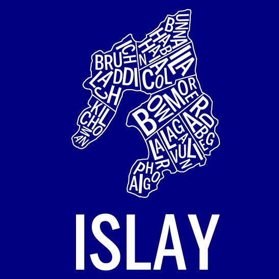 Islay i färgen negativ marinblå