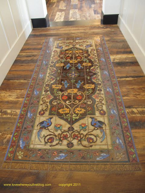 Tile Rug Handmade Tiles Can Be Colour Coordianated And