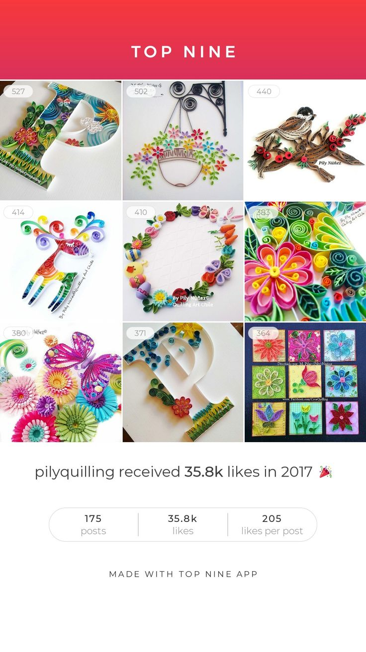 Top Nine @pilyquilling on Instagram www.instagram.com/pilyquilling