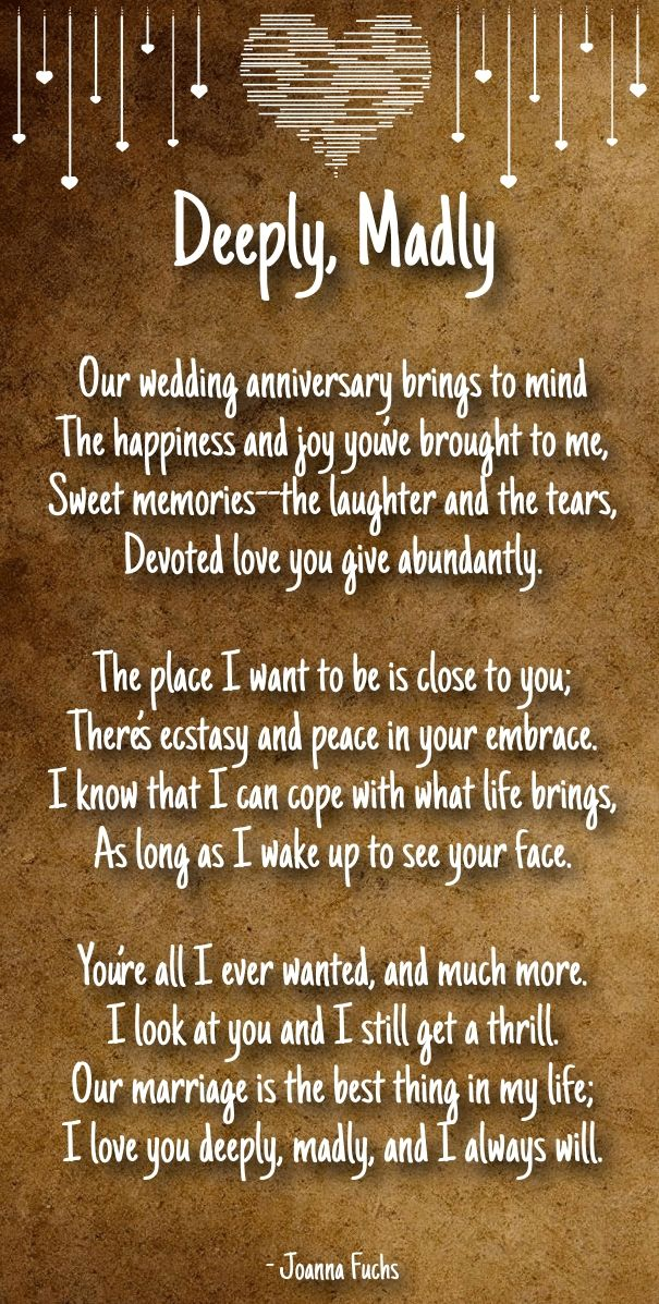 Anniversary Poems For Boyfriend Her Husband